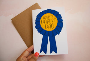 World's Dopest Dad Father's Day Card