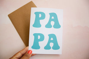 PAPA Father's Day Card