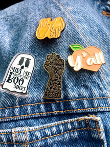 From Justice Grows Peace Enamel Pin
