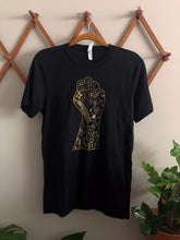 Load image into Gallery viewer, From Justice Grows Peace Black T-Shirt