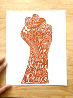 From Justice Grows Peace Print