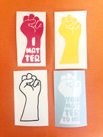 Power Fist Vinyl Decals