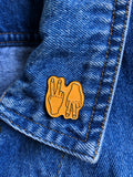 Peace Up, A Town Down Enamel Pin