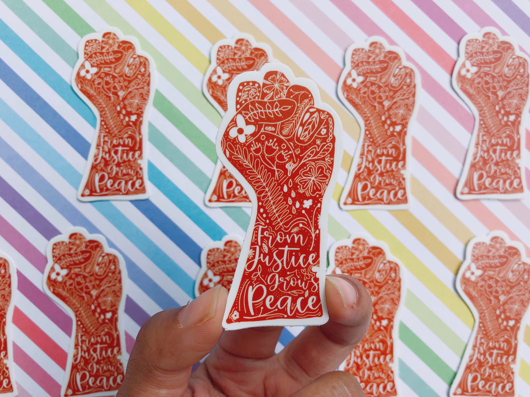 From Justice Grows Peace Sticker
