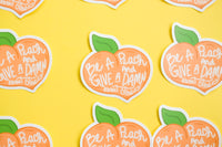Be A Peach and Give A Damn About Others Transparent Sticker