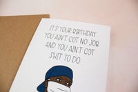 Friday Social Distancing Birthday Card