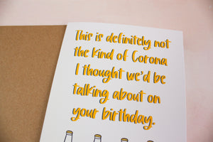 Not the Corona Birthday Card