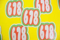 678 Atlanta Area Code Sticker