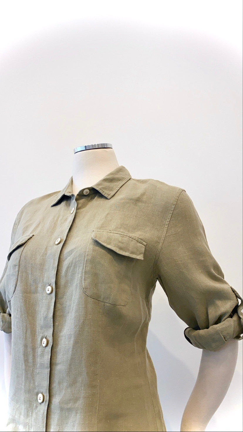 Italy - Linen Button-Down Easy Dress