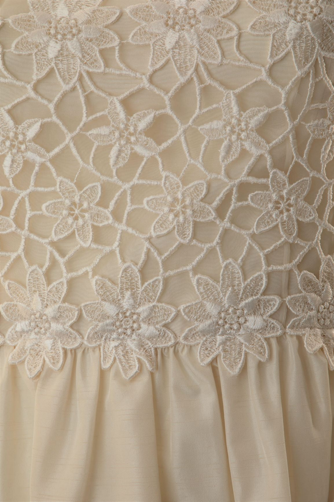 Vintage - Guipure Lace and Shantung Taffeta Dress