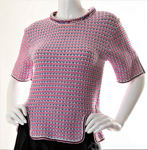 Open image in slideshow, Chanel - Chunky Woven Top w/ Metallic Threads