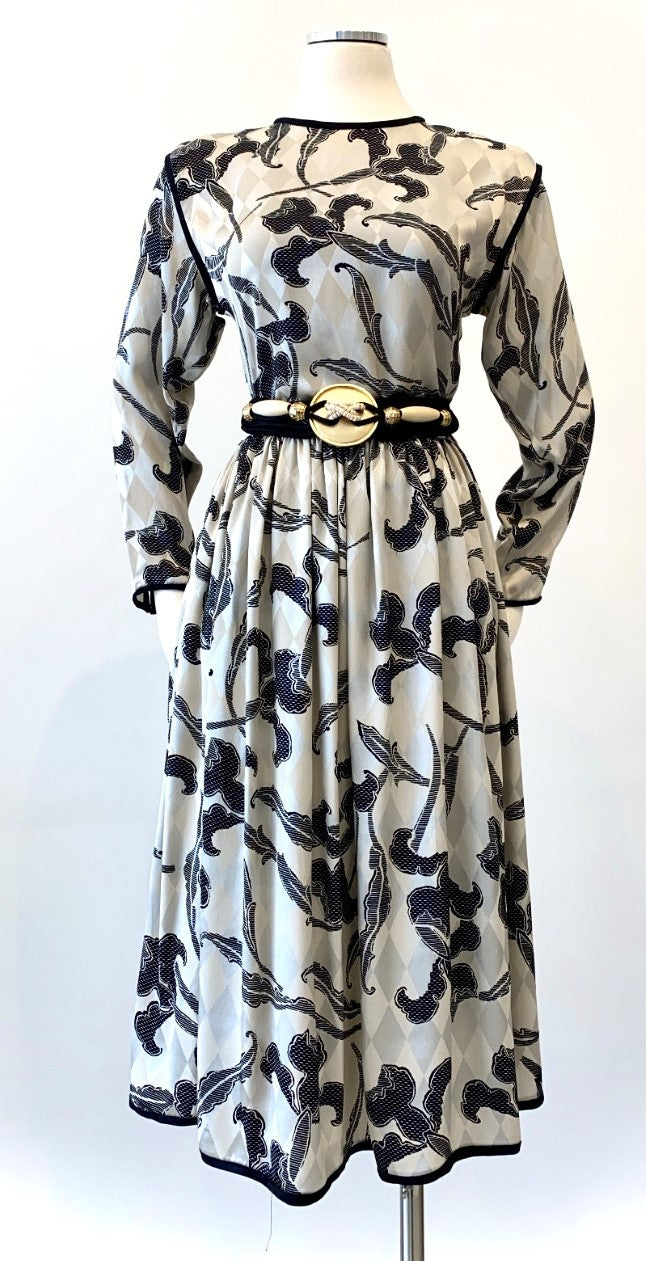 Vintage -  Silk Floral Two Piece Set
