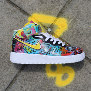 Basquiat Inspired Air Force 1 Mid