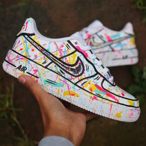 Skittles Splatter Air Force 1 Low