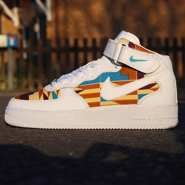 African Print Air Force 1 Mid
