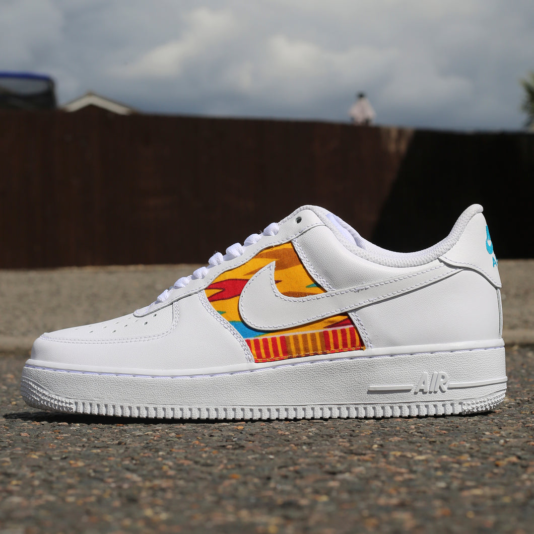 African Print Behind Swoosh Air Force 1 Low