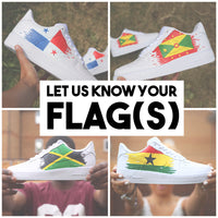 Pick Your Country Flag Air Force 1 Low
