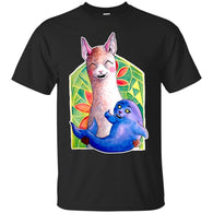 CUTE ANIMALS - Kawaii Alpaca and the Seal of Approval T Shirt & Hoodie (1)