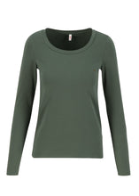 Laden Sie das Bild in den Galerie-Viewer, Shirt logo round neck langarm welle