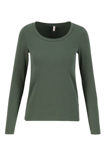Shirt logo round neck langarm welle