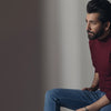 Maroon Full Sleeves Mock Neck