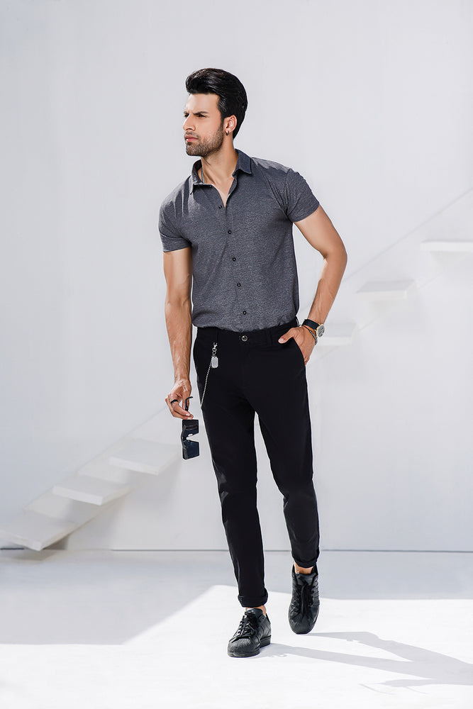 Charcoal Half Sleeves Jersey Shirt