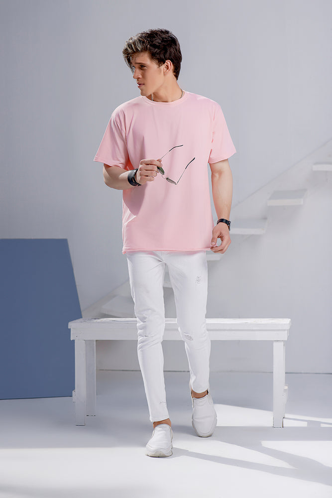 Pink Over Sized Crew Neck