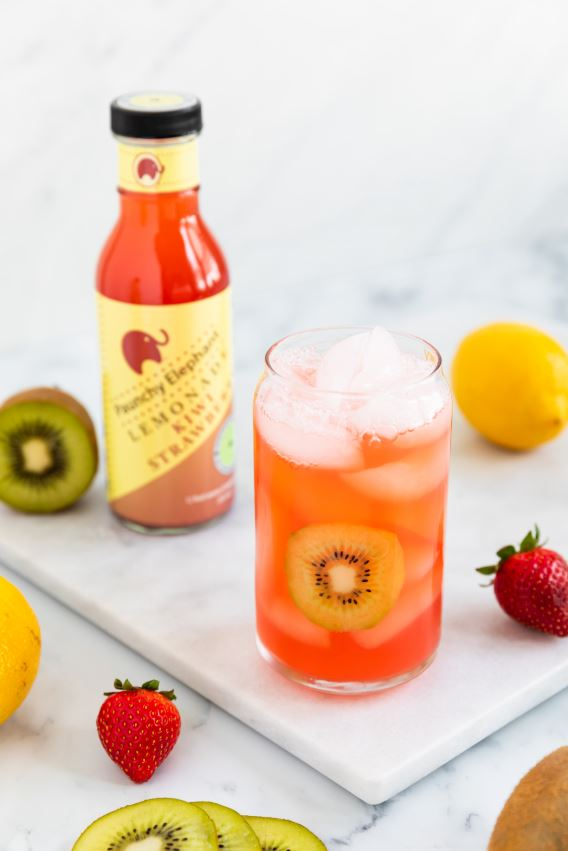Organic Kiwi Strawberry Lemonade - Paunchy Elephant