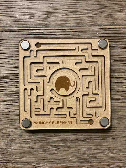 Paunchy Elephant Maze Coasters (set of 2)