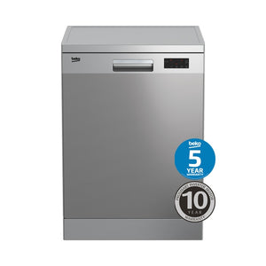 BEKO BDF1410X Stainless Steel Freestanding Dishwasher