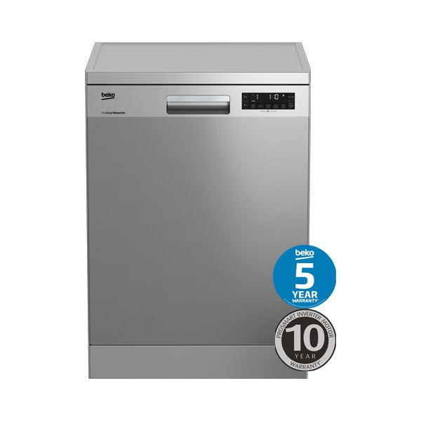 BEKO BDF1620X Stainless Steel Freestanding Dishwasher