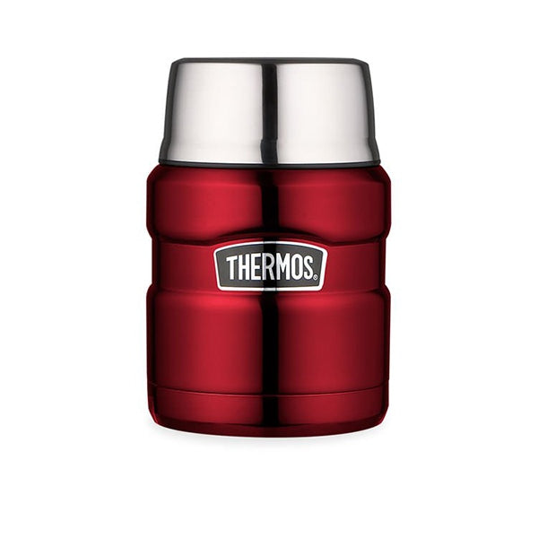 Thermos SK3000RAUS 470ml Stainless King Stainless Steel Vacuum Insulated Food Jar ? Red