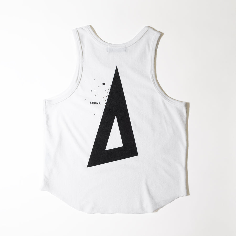 PILE TANK TOP [Triangle of SHOMA]- White