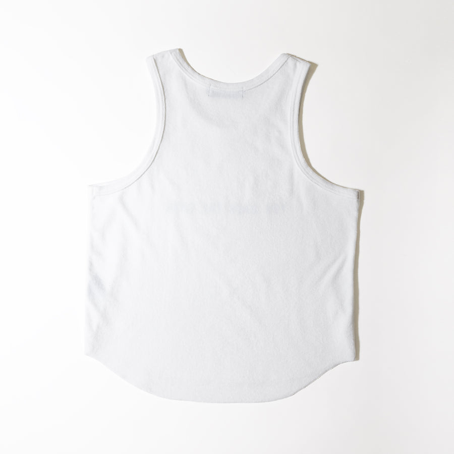 PILE TANK TOP[YOU GAIN THE COOL]- White