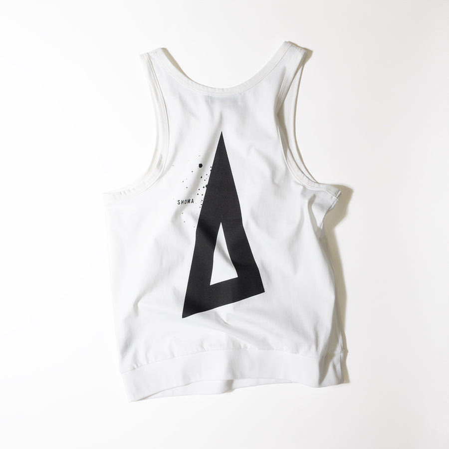 JERSEY ACTIVE TOP[Triangle of SHOMA]- White