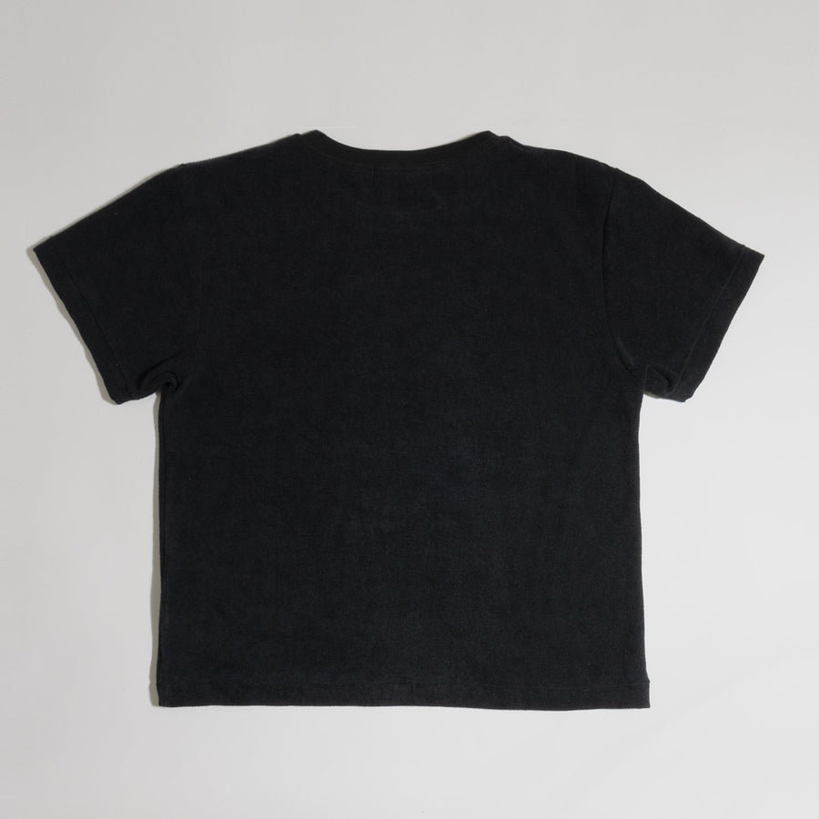 PILE CREW NECK T[YOU GAIN THE COOL]- Black