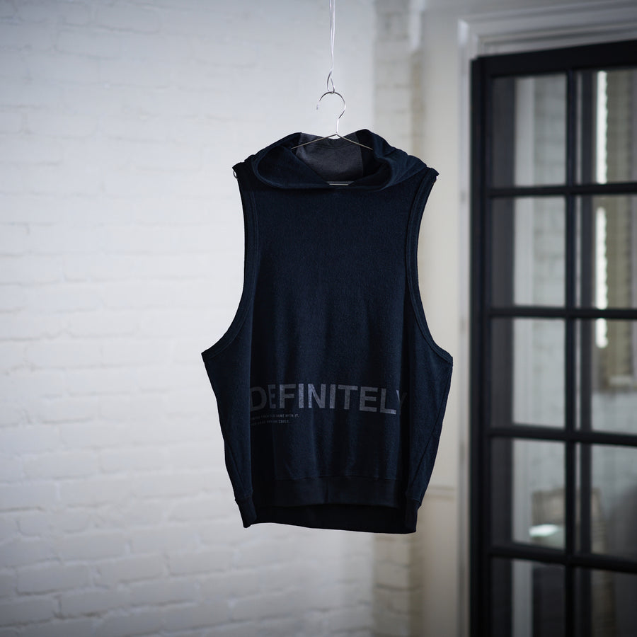 Hoodie Tank Top [DEFINITELY] - Black & Gray