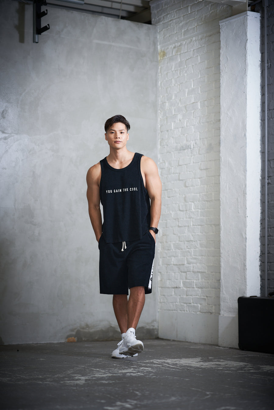 PILE TANK TOP[YOU GAIN THE COOL]- Black