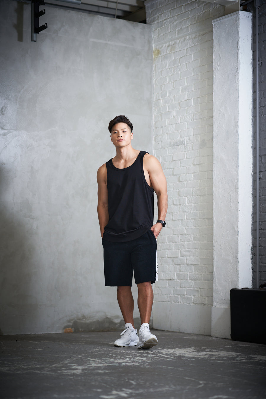 PILE TANK TOP [Triangle of SHOMA]- Black