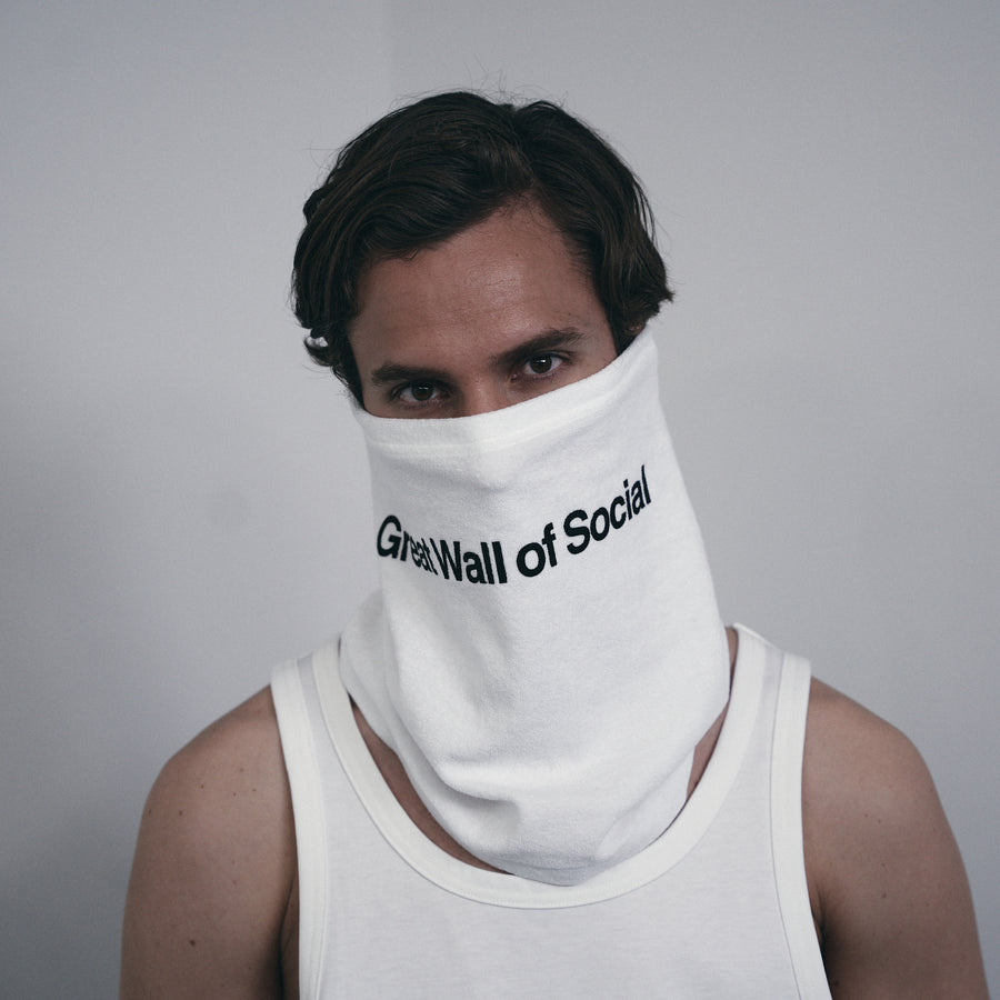 PILE SCARF MASK[Great Wall of Social]- White