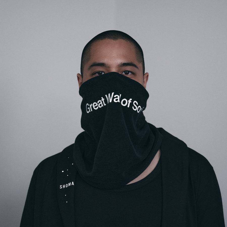 PILE SCARF MASK[Great Wall of Social]- Black
