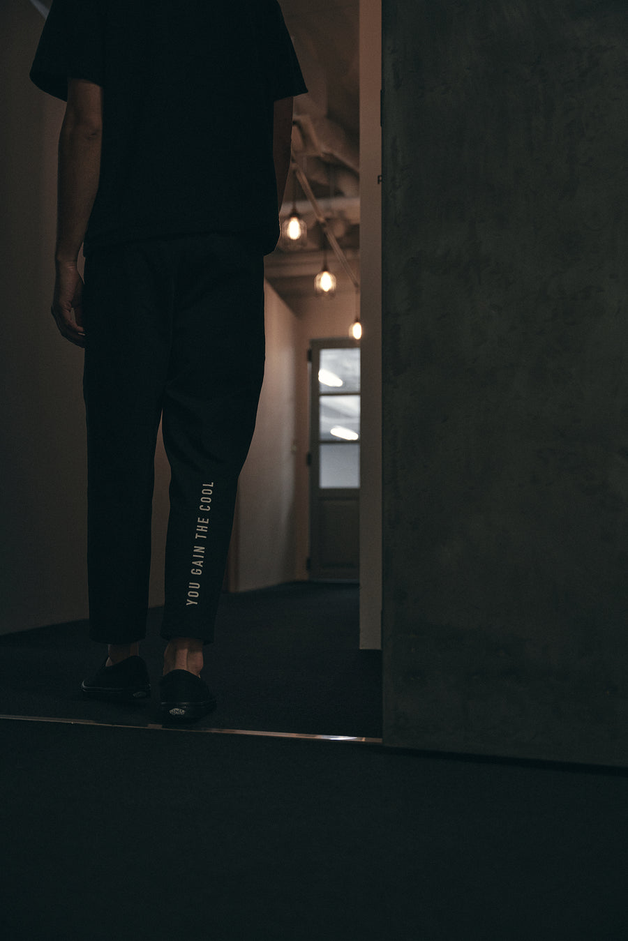 JERSEY JOG PANTS[YOU GAIN THE COOL]- Black