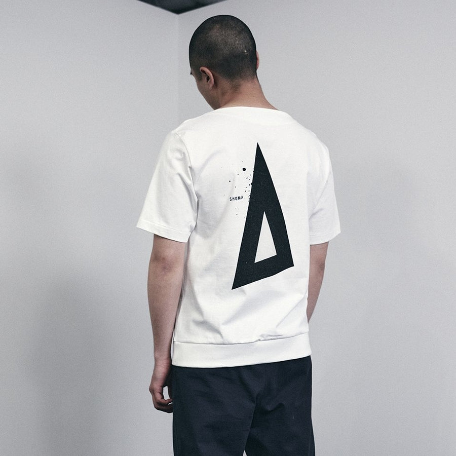 JERSEY BOAT NECK T[Triangle of SHOMA]- White