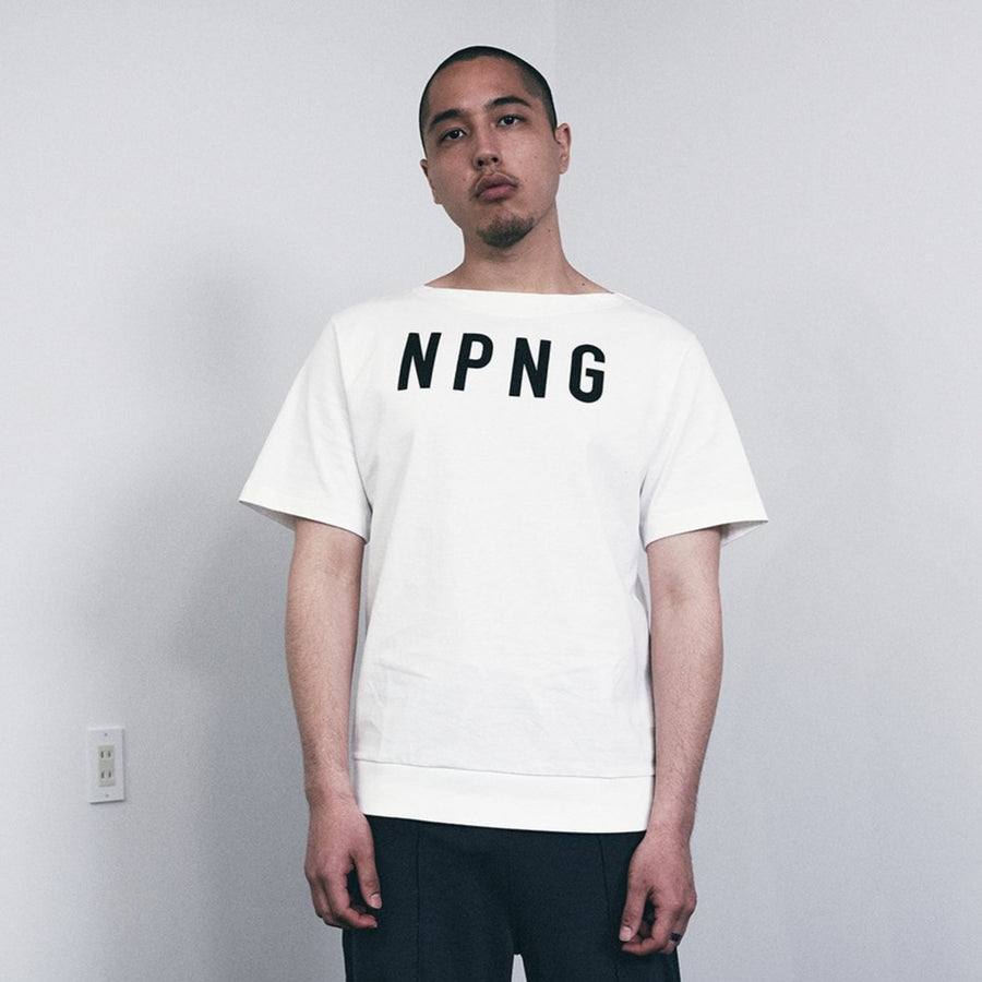 JERSEY BOAT NECK T[NPNG]- White