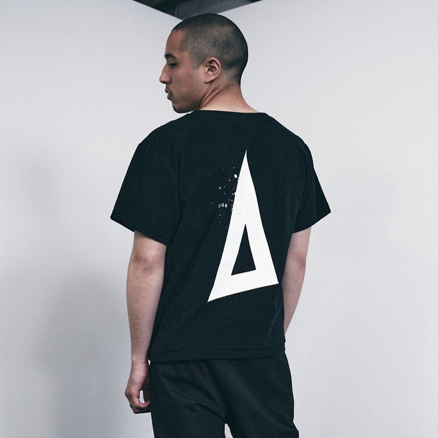 PILE CREW NECK T[Triangle of SHOMA]- Black
