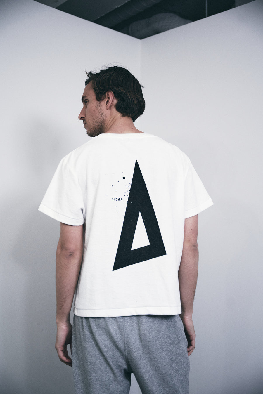 PILE CREW NECK T[Triangle of SHOMA]- White