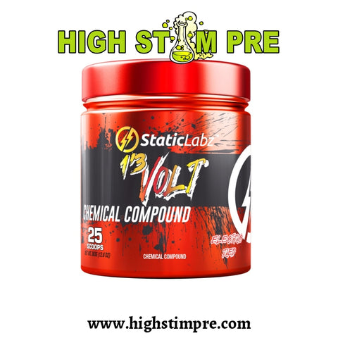 Static Labz 13 Volt Electric Red Pre Workout