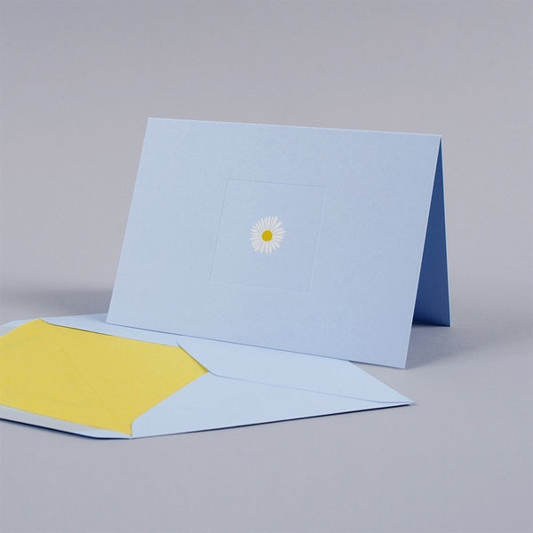 Daisy on Blue Correspondence Cards