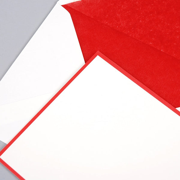 Red Border on Oyster Correspondence Cards