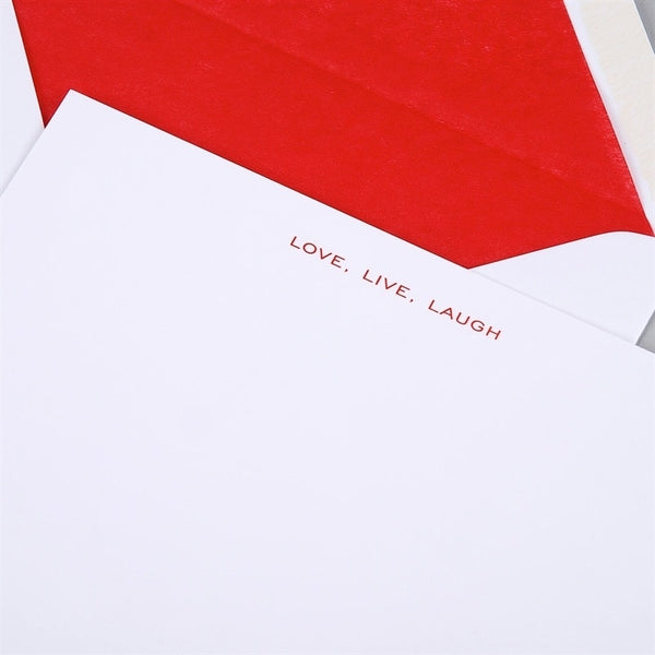 Live, Laugh, Love Correspondence Cards